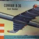 1/181 CONVAIR B-36 BOMBER REVELL VINTAGE H139 1961 NEW