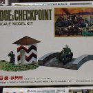 1/76 BRIDGE CHECK POINT MOTORBIKE SIDECAR NITTO FUJIMI