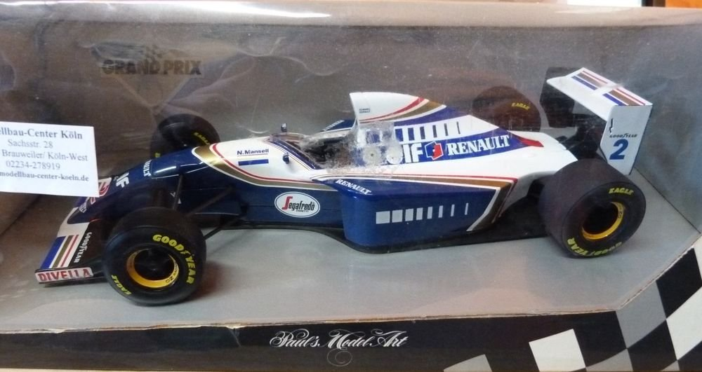 1/18 WILLIAMS RENAULT FW 16 COULTHARD / MANSELL PAUL'S MODEL ART NEW