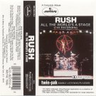 Rush All the World's a Stage Cassette