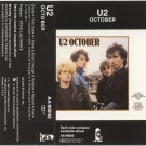 U2 October Cassette