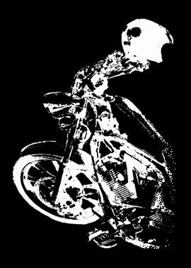 Independent Rider Bumper Sticker, Motorcycle Image #1 (Large)