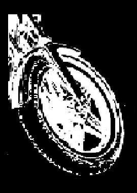 Independent Rider Bumper Sticker, Motorcycle Wheel #1 (Large)