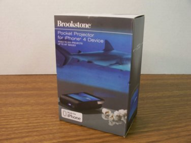 """Brookstone Pocket Projector for iPhone 4 Device Projects up to 50"""" Images *NIB*"""