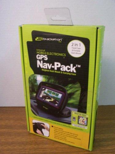 Bracketron Universal GPS Nav-Pack Weighted Dash Mount & Carrying Case (UFM-300-BX) *NIB*