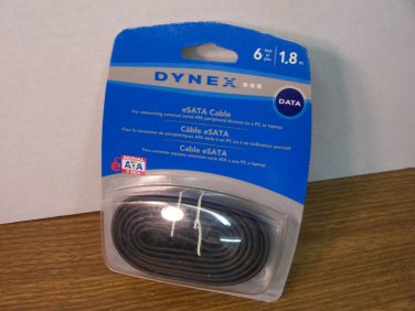 Dynex 6ft 3Gb/s eSATA Cable (DX-C113221) *NEW*