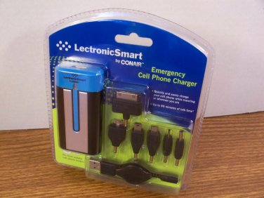 LectronicSmart by Conair Emergency Cell Phone Charger (LS312) *NEW*