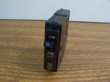Square D QO Circuit Breaker (QO120) 20Amp 240Volt 1Pole 10kA *USED*