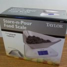 Taylor Store-N-Pour Food Scale 11lb. Capacity (1077) *NIB*