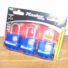 """Master Lock 3-Pack Weather Proof Cover 1"""" Padlocks (312TRI) *NEW*"""