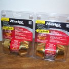 "Master Lock 2X 1-3/8"" to 1-3/4"" Bright Brass Double Cylinder Deadbolt (DSO0703) *NEW*"