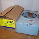 Square D 200Amp 4 Jaw Meter Socket Type 3R (UHTRS202B) 1PH 600Volt 3W *NIB*