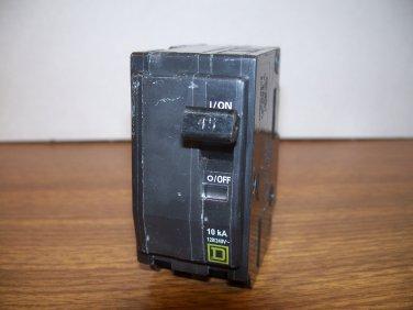 Square D QO Circuit Breaker (QO245) 45Amp 240Volt 2Pole 10kA *USED*