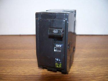 Square D QO Circuit Breaker (QO240) 40Amp 240Volt 2Pole 10kA *USED*