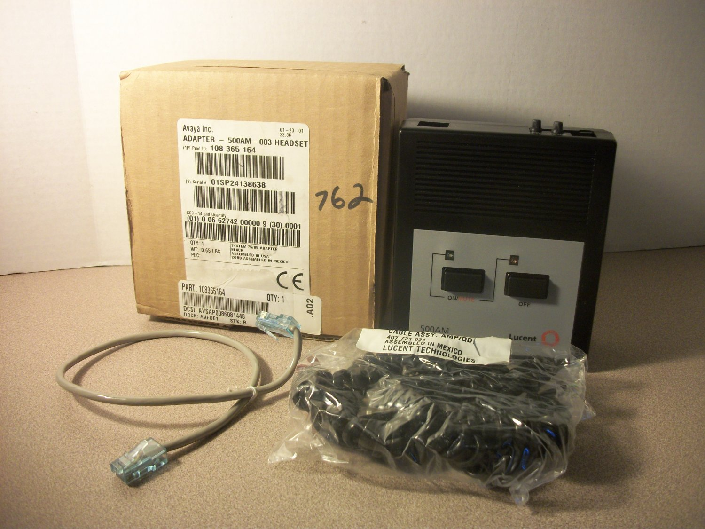 Avaya Lucent Black Headset Adapter (500AM-003) *NIB*