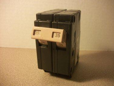 Cutler-Hammer CH Circuit Breaker (CH235) 35Amp 240Volt 2Pole 10kA *USED*