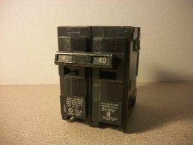 Siemens QP Circuit Breaker (Q240) 40Amp 240Volt 2Pole 10kA *NOB*