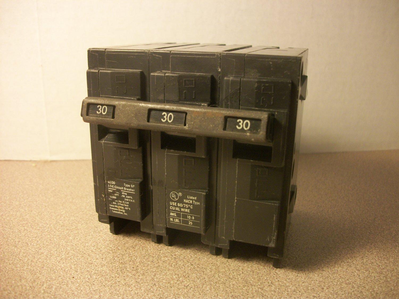 Siemens QP Circuit Breaker (Q330) 30Amp 240Volt 3Pole 10kA *USED*