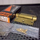 Lawrence 3.5x3.5 Satin Brass Adjustable Spring Hinge (R256OS-DB) *NIB*