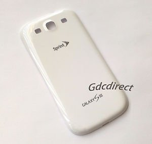 White OEM Samsung Galaxy S3 SIII L710 Back Door Battery Cover Sprint New