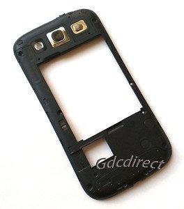 Black Sprint Samsung Galaxy S 3 III L710 Chassis Rear Housing w/ Speaker+Lens