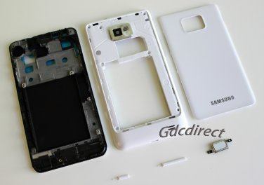 OEM Samsung Galaxy S2 SII i9100 Full Housing Cover Middle Frame Back Door Case White
