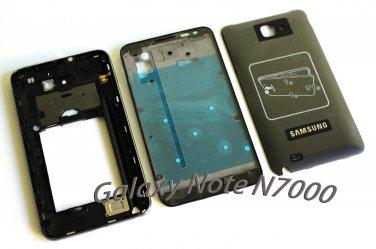 Original Samsung Galaxy Note i9220 N7000 Full Complete Housing Cover Frame Door Case OEM Black