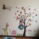 Trees and animals Nursery room Wall Decal -Kid Trees Wall Vinyl
