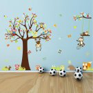 Nursery Wall Decals - Tree and Owls Wall Decal -squirrel Vinyl Wall Decal, Tree Wall Decals