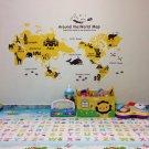 Nursery World map wall sticker for Kids baby room