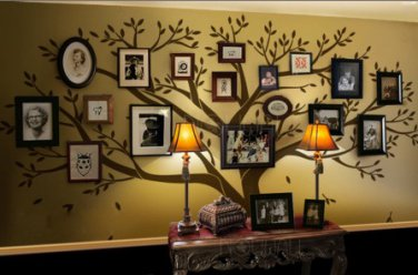 Family Tree Wall decal - Photo frame tree  Wall Decals