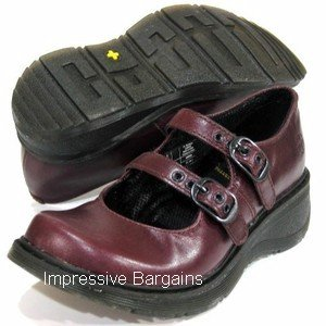 Dr Doc Martens Candie 2 Strap Mary Jane Palatino Wine UK 8 US 10