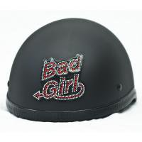 Bad Girl Rhinestone Motorcycle Helmet Patch or apply to any smooth surface