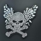 Skull and Bone Rhinestone Motorcycle Helmet Patch apply to any smooth surface