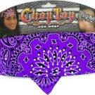 Biker Chop Top Purple Paisley w/Rhinestons Doo Rag , Head Scarf, Wrap, Headband