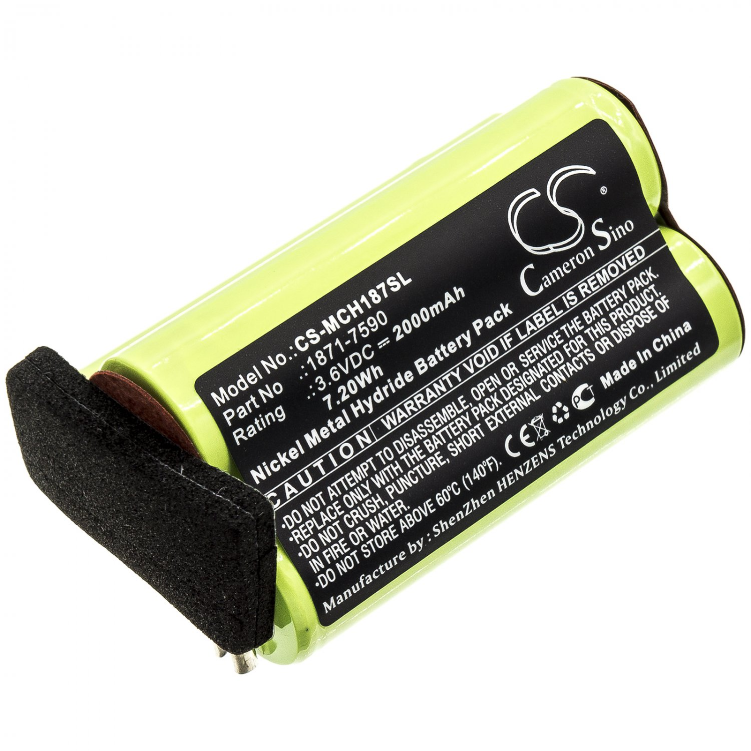 BATTERY MOSER 1871-7590 FOR ChromStyle 1871, Super Cordless 1872 clipper, Wella Academy ChromStyle