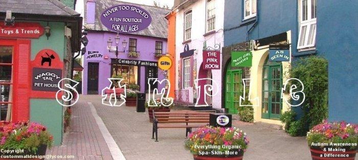 Auction Template or Web Site Header Logo Village Shops Navigational Header & Custom Links