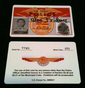 """Joe Friday """"DRAGNET"""" 50's Tv Show ID Card Novelty SCREEN ACCURATE New!!!"""