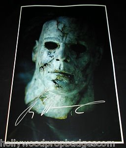 """Tyler Mane A.K.A. """"MICHAEL MYERS"""" Rob Z. Halloween SIGNED 12X18 Glossy Paper!!!"""