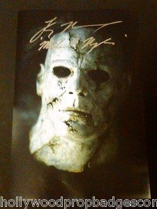 """Tyler Mane A.K.A. """"MICHAEL MYERS"""" Rob Z. Halloween SIGNED 12X18 W/PHOTO PROOF!!!"""