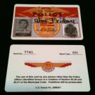 "Joe Friday ""DRAGNET"" 50's Tv Show ID Card Novelty SCREEN ACCURATE"