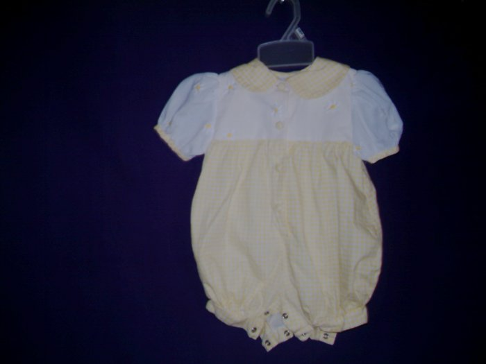 3 - 6 Mths - Nannette - Infant Girl Romper suit