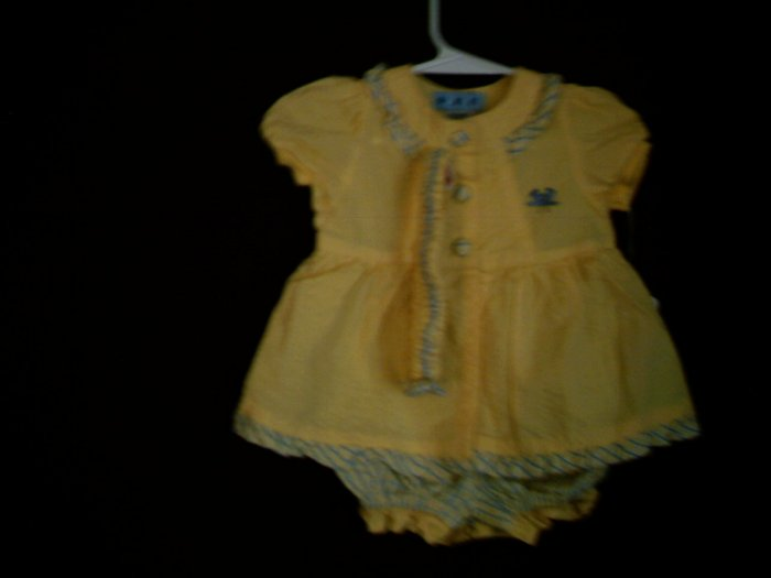 NEWBORN - 0 -3 MTHS - GYMBOREE - DRESS W/ HEADBAND