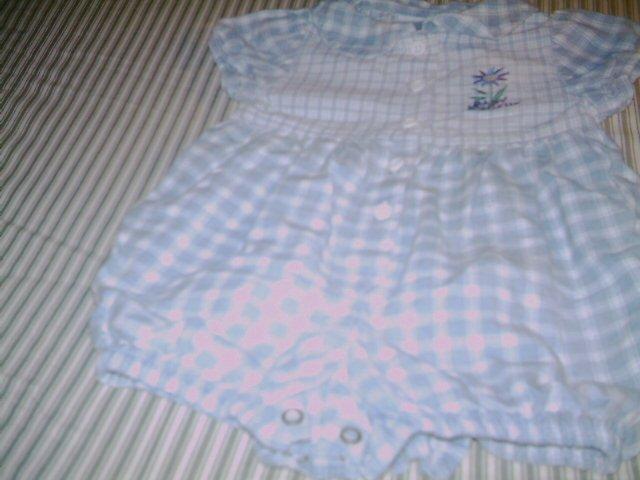 6 - 9 MTHS - BABY B'GOSH - INFANT GIRL - ROMPER SUIT