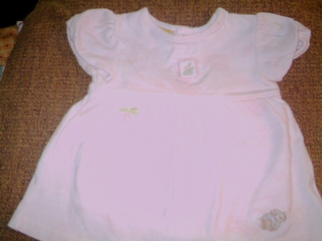 6 -9 MTHS - PETER RABBIT - INFANT GIRL-ROMPER DRESS