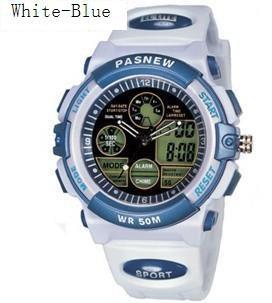 PASNEW 048B Plastic Electronic Quartz Movements LED  Outdoor Sports Watch,Waterproof Watch