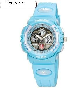 PASNEW 048G Plastic Electronic Quartz Movements LED  Outdoor Sports Watch,Waterproof Watch