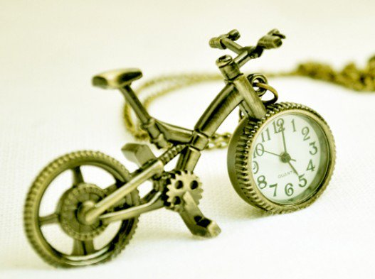 Bike pocket watch, necklace pocket watch