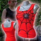Spiderweb Punk Tank Top Red