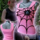 Spiderweb Punk Tank Top Pink